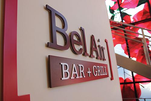 Bel Air Grill sign